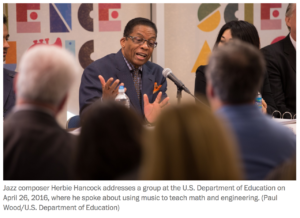 Herbie Hancock at MathScienceMusic launch